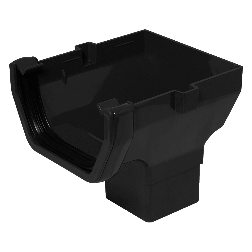 SQUARE STOP END OUTLET 112MM BLACK RS206B ROS2BL