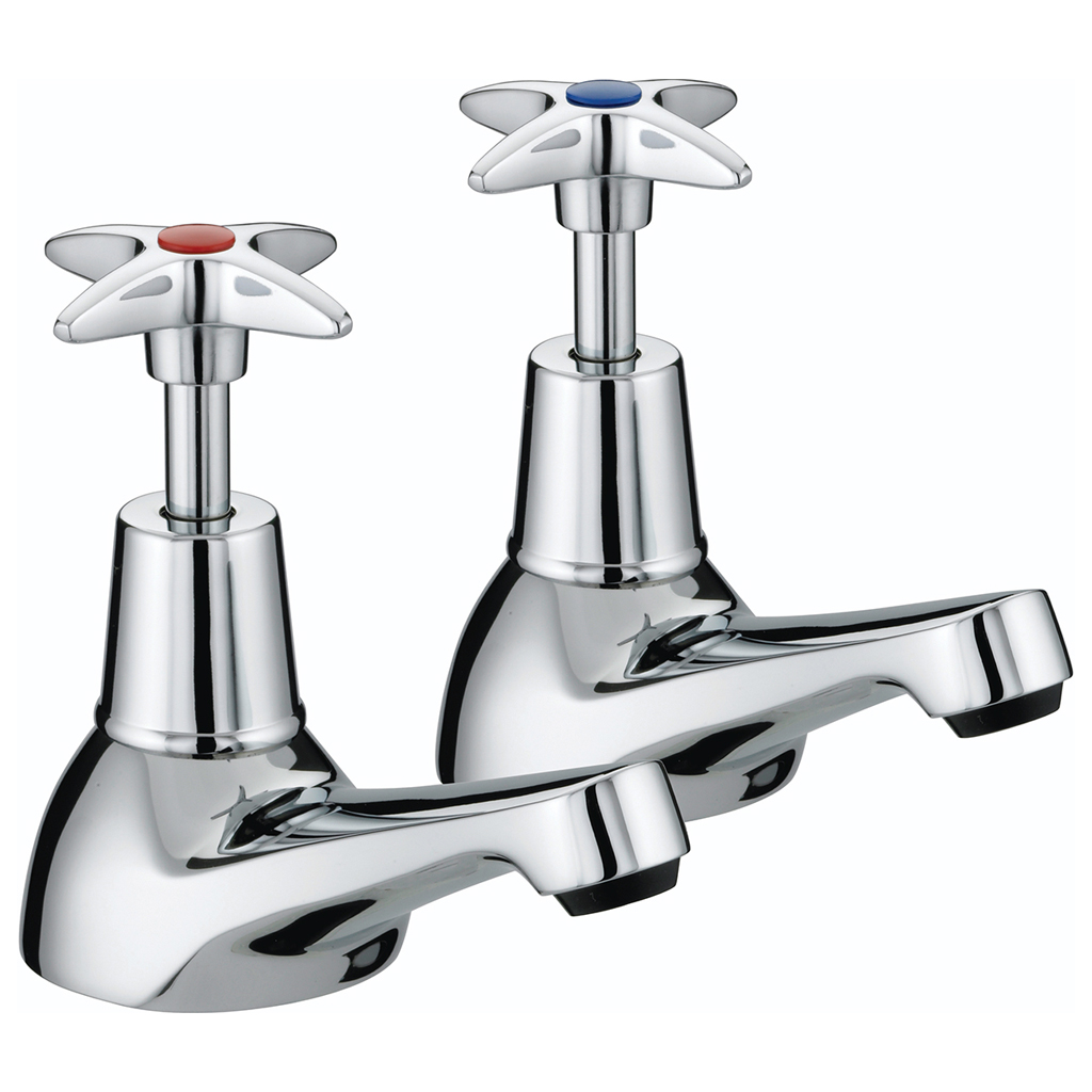BRISTAN 5412 CROSS TOP BATH TAPS CHROME PLATED VAX 3/4 C