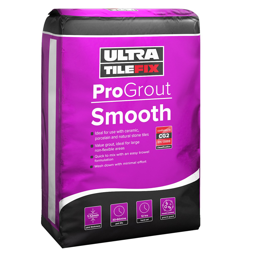 10KG PRO GROUT SMOOTH WHITE