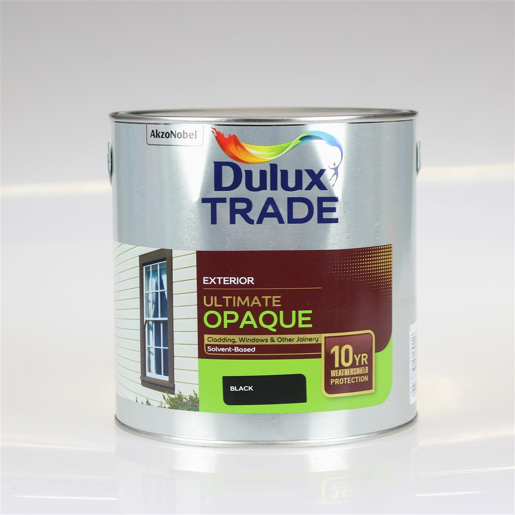 DULUX TRADE PAINT ULTIMATE OPAQUE BLACK 2.5L