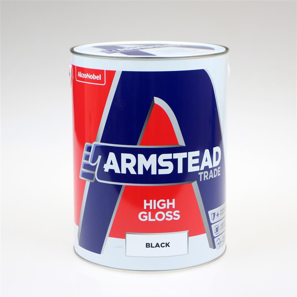 ARMSTEAD TRADE PAINT HIGH GLOSS BLACK 5L