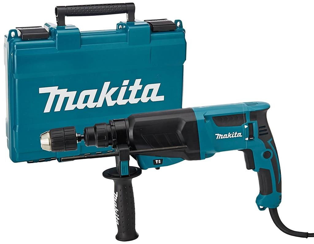 MAKITA HR2630 DRILL ROTARY SDS PLUS HAMMER 2KG 110V WITH FOC D-42357 3 PIECE CHISEL SET