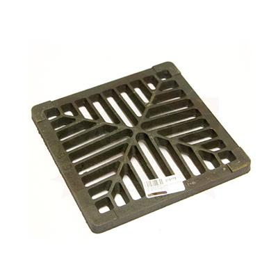 GULLY GRID BLACK COATED 125 229X229X13MM