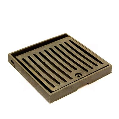 HINGED LOCKING GRATING AND FRAME BLACK COATED 173 305X305X38MM