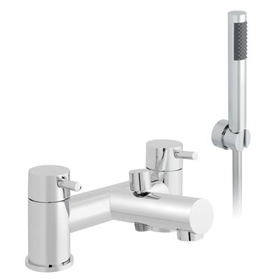 TARIS 2 HOLE DECK MOUNTED BATH SHOWER MIXER MDL-TAR-005