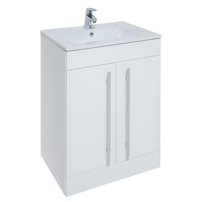 PURITY 600MM FLOOR STANDING  BASIN UNIT WHITE  FUR001PU, FUR057PU