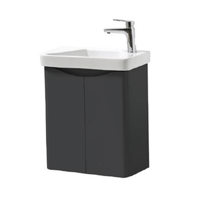 CAYO WALL HUNG CLOAKROOM UNIT AND BASIN 500MM ANTHRACITE FUR461CA/FUR455CA