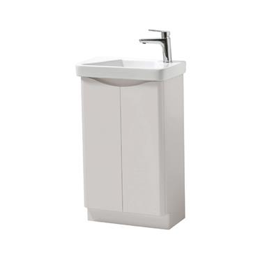 CAYO ROLLING MIST 500MM FLOORSTANDING 2 DOOR UNIT AND CERAMIC BASIN FUR470CA-FUR455CA
