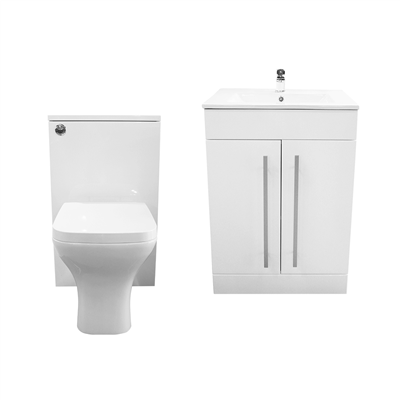 PURITY CLOAKROOM SUITE WHITE EXCLUDING TAPS AND WASTE