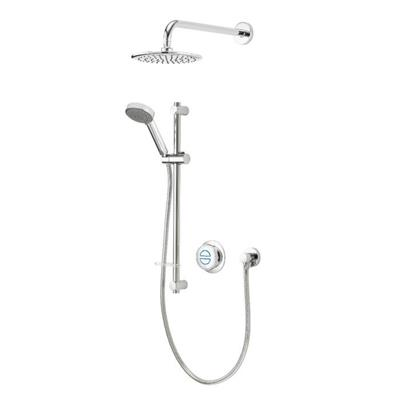 AQUALISA SHOWER QUARTZ CLASSIC SMART CONCEALED DUAL C/W ADJUSTABLE HEAD  AND DRENCHER HP/COMBI QZD.A1.BV.DVFW.20