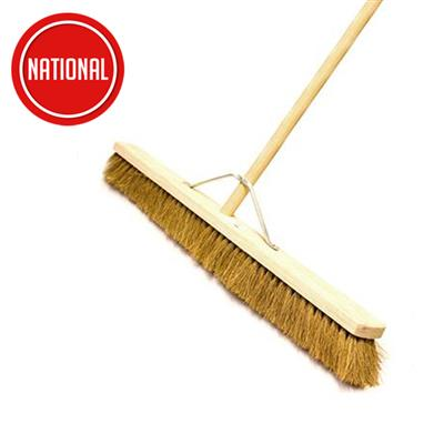 PLATFORM BRUSH NATURAL COCO BROOM C/W STAYED HANDLE 900MM