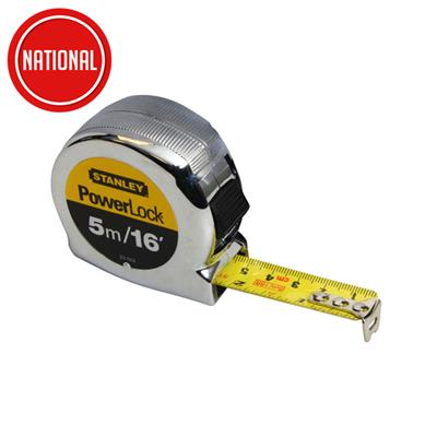 STANLEY MICRO POWERLOCK TAPE MEASURE SM/16FT CRD STA 033553