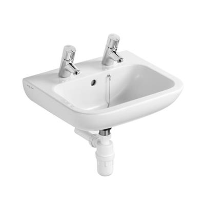 BASIN WHITE 2 TAPHOLE 500X400 ARMITAGE PORTMAN OVERFLOW AND STAY HOLE S222001