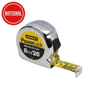 STANLEY POWERLOCK TAPE MEASURE 8MTR STA033526