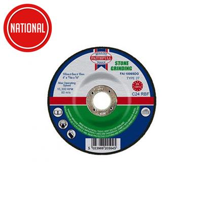 ABRASIVE DISC DEPRESSED-CENTRE STONE 115X22X3MM