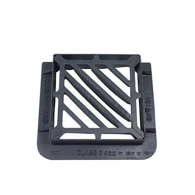 GULLY GRATE AND FRAME DUCTILE D400 415X415MM DOUBLE TRIANGULAR CLKS644KMD
