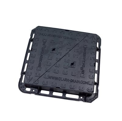MANHOLE COVER AND FRAME DUCTILE IRON DOUBLE-TRIANGLE 600 MA60 100MM CLKS701KMD
