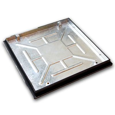 MANHOLE COVER AND FRAME RECESSED TRAY 600X600 SEALED AND LOCKING T16G3