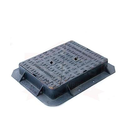 MANHOLE COVER AND FRAME 600X450 100MM DUCTILE D400 BS KITE MARKED BSEN124 CLKS756KMD