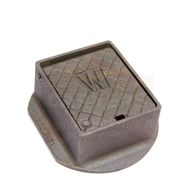 STOP TAP BOX TYPE A CAST-IRON 6X5X3IN