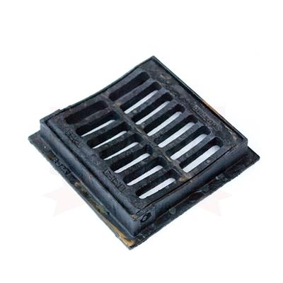 GULLY GRID & FRAME 302X302 CLEAR OPENING CAST IRON HINGED AND DISHED B125 E31N CD60DDI