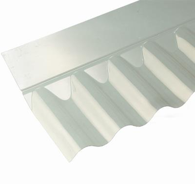 CORRUGATED SHEET WALL FLASHING CLEAR 3IN-PROFILE