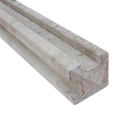 CONCRETE POST CORNER PANEL WET CAST SLOTTED 2.36M (7FT9IN) MAYBE SUBJECT TO HAIRLINE CRACKS