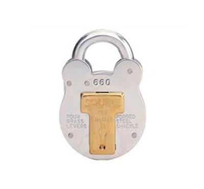 HENRY SQUIRE 64MM OLD ENGLISH PADLOCK (GALVANISED) NO 660