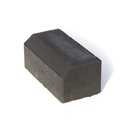 BLOCK PAVING CHARCOAL CHAMFERED EDGE KERB HORIZONTAL 200LX100HX80MMD (432 PER PACK)