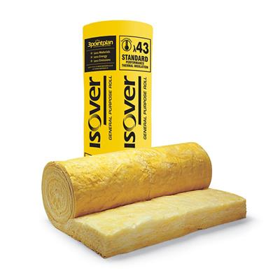 LOFT INSULATION 200MM GLASS SPACE SAVER COMBI ROLL LOFT 6.03M2 PER PACK ISOVER (24 PT)