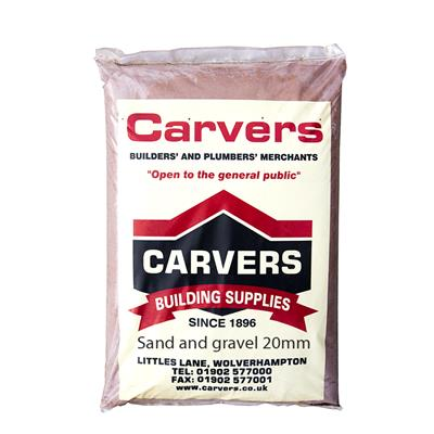 SAND AND GRAVEL BALLAST 20MM ALL IN MAXI PLASTIC  BAG