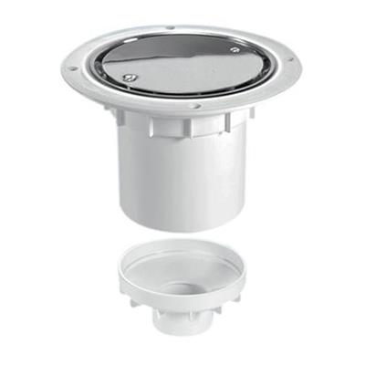 MCALPINE SHOWER GULLY ROUND STAINLESS STEEL FOR SHEET FLOORING VERTICAL OUTLET TSG2SS