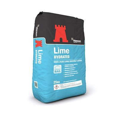 HYDRATED LIME 25KG BAG HANSON