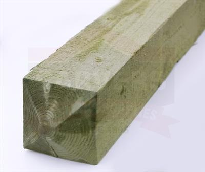 GATE POST TIMBER WEATHERED TREATED GREEN 150X150X2100MM