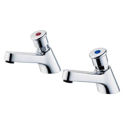 ARMITAGE SANDRINGHAM NON CONCUSIVE PILLAR TAPS CHROME S0672AA PAIR ONLY