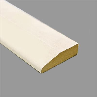 MDF ARCHITRAVE CHAMFERED PRIMED 18X69MM 5.4M LENGHTS