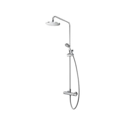 AQUALISA MIXER SHOWER AQ150BAR2 WITH DIVERTER CHROME C/W DRENCH HEAD AND HANDSET