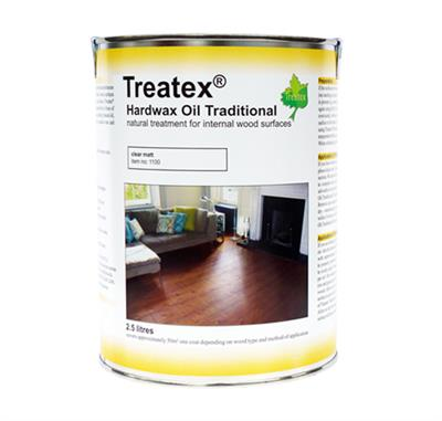 TREATEX MATT HARD WAX OIL 2.5LTR CLEAR MATT