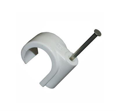 15MM PIPE NAIL CLIP **WHITE ONLY** M100