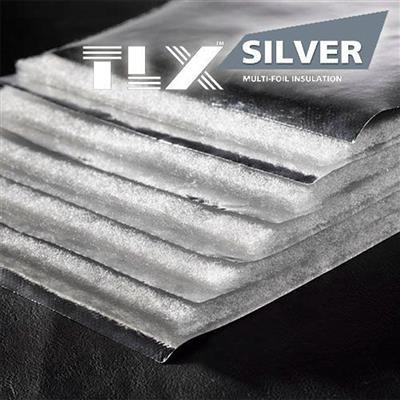 INSULATION MULTIFOIL SILVER WEB DYNAMIC TLX BBA APPROVED 1.2MX10M ROLL
