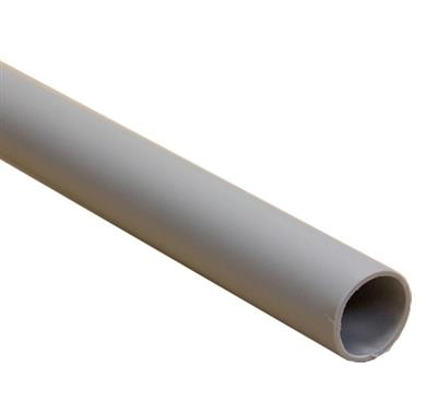 POLYPIPE PUSHFIT OVERFLOW PIPE 21.5MMX3M GREY VP43G