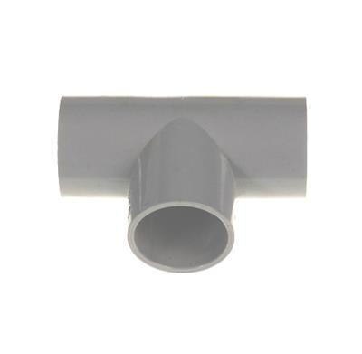 POLYPIPE 90DEG PUSHFIT OVERFLOW TEE 21.5MM GREY VP46G