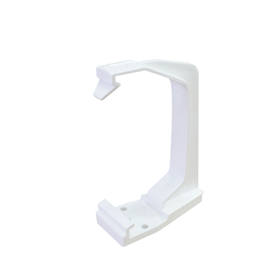 DOWNPIPE SQUARE BRACKET 65MM WHITE RS226W RCS1W
