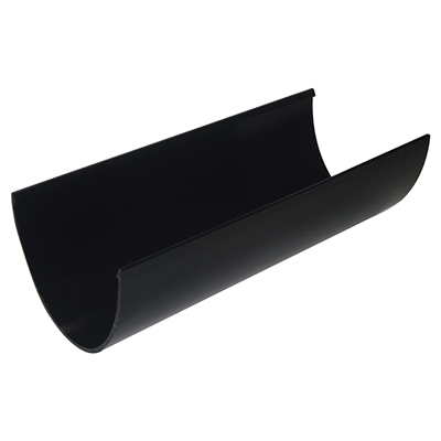 DEEP GUTTER 117MM X4M BLACK RD501B RGH4BL