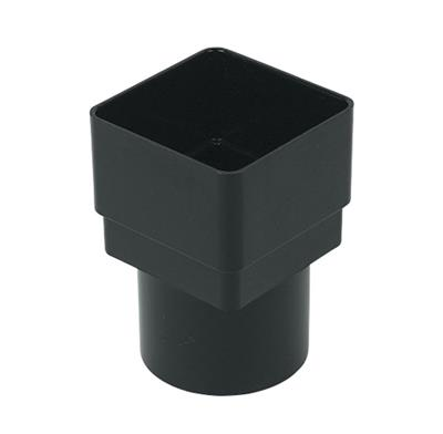 SQUARE/ROUND DOWNPIPE ADAPTOR 65MM BLACK RS231B RDS2BL