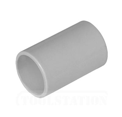 POLYPIPE PUSHFIT OVERFLOW STRAIGHT CONNECTOR 21.5MM GREY VP44G