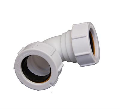 COMPRESSION WASTE KNUCKLE BEND 32MM 90DG WHITE PS15 WC10