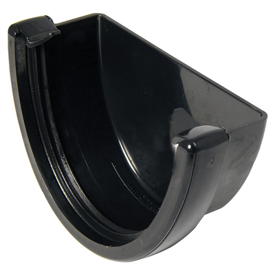 DEEP GUTTER STOP END EXTERNAL BLACK RD507B REH1BL