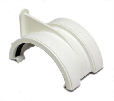 HALF ROUND GUTTER UNION BRACKET 112MM WHITE RR102W RU1W