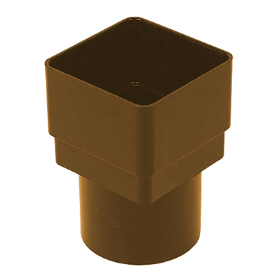 SQ/ROUND DOWNPIPE ADAPTOR 65MM BROWN RS231BR RDS2BR